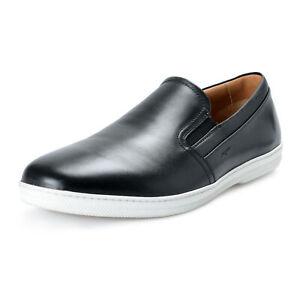 Salvatore-Ferragamo-Men-039-s-FRISO-Black-Leather-Slip-On-Loafers-Shoes-Sz-10-10-5EE