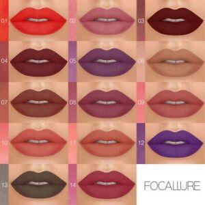 FOCALLURE-Matte-Rossetto-Liquido-Labbro-Tinta-Pigmento-Alto-Sexy-Rosso-facile-da-indossare