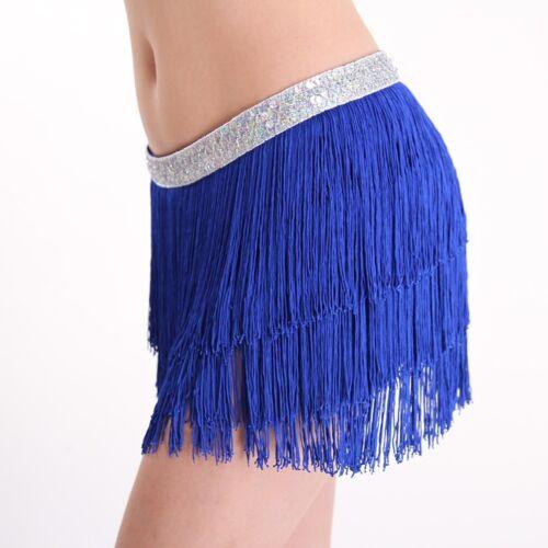 Belly Dance Costume  3 Layers Tribal Fringe Tassels Hip  Scarf Wrap Belt  New