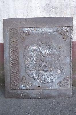 Alte Ofenplatte Platte Eisen Eisenplatte Wappen Königreich Bayern Top Wassermelonen