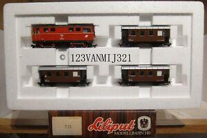 LILIPUT-Wien-733-OBB-MARIAZELLERBAHN-Zugset-HOe-2095-15-3-Personenwagen-Biho