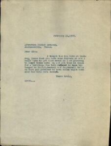 1925 Jacksonville Texas (TX) Letter Albritton Postal Company E.M. Jerrell