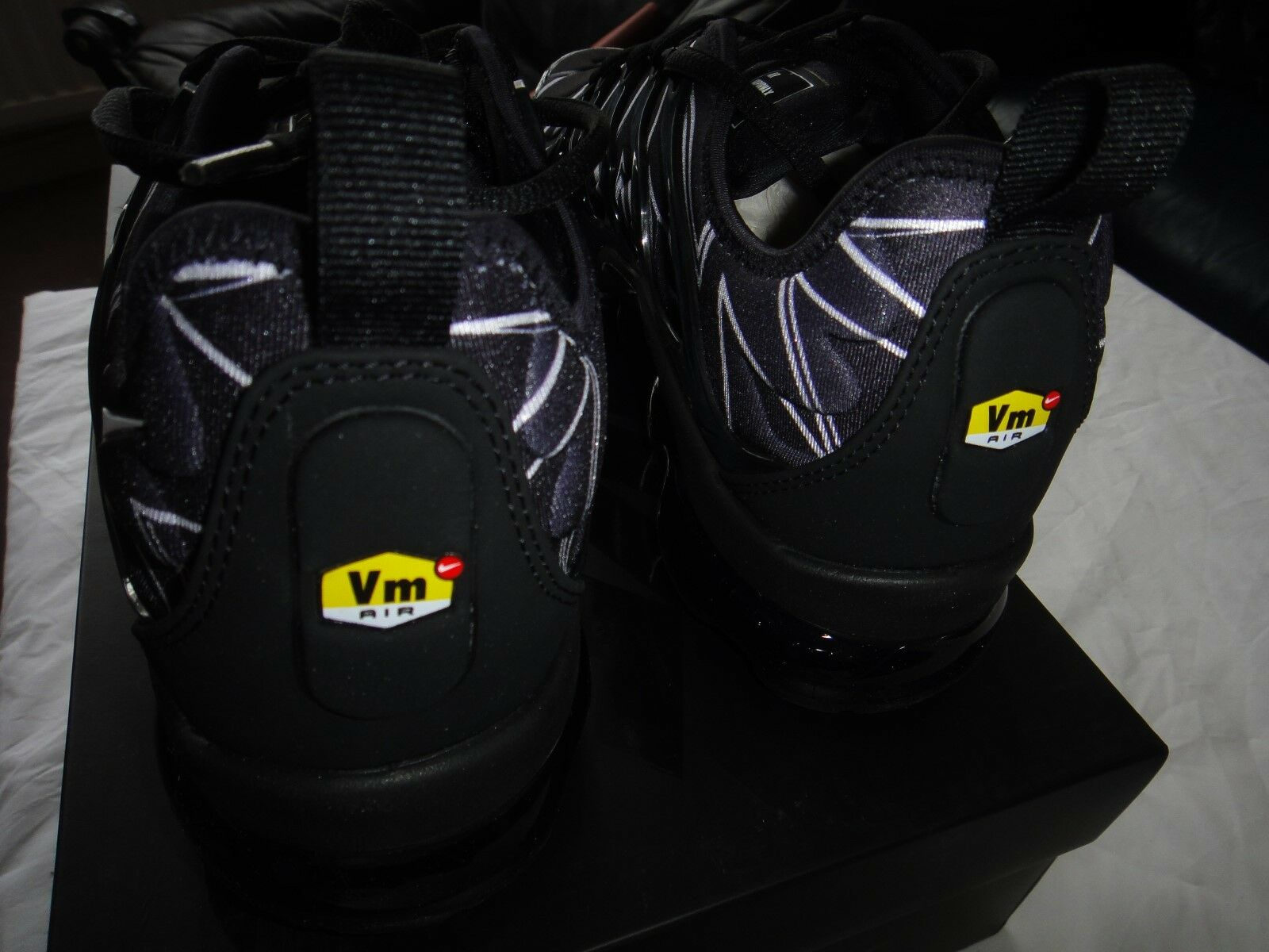 Nike Air VaporMax VaporMax VaporMax Plus HL Zig-Zag AJ6312-001 Bianca Nera Taglia RARO!!! 7076bc