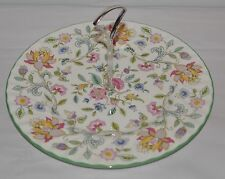 """MINTON HADDON HALL CAKE STAND / PLATE SIZE: 10 1/2"""" VINTAGE SIGNED"""