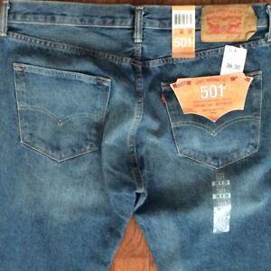 Levi-039-s-Men-039-s-New-501-2307-34x36-Blue-Original-Fit-Jeans-Straight-Leg-Button-Fly