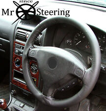 FITS VAUXHALL ASTRA G MK4 REAL BLACK LEATHER STEERING WHEEL COVER 1998-2004