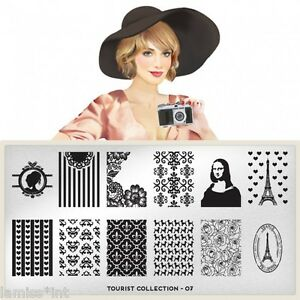MoYou-London-TOURIST-7-Collection-Stamping-Schablone-Paris-Mona-Lisa-Rose