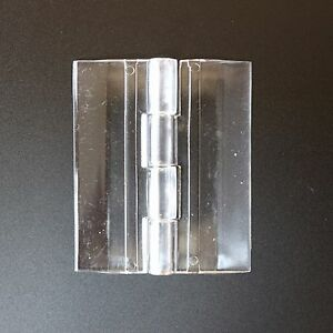 Clear-Acrylic-Plastic-Piano-Continuous-Hinge-64mm-Perspex-Transparent-x-1