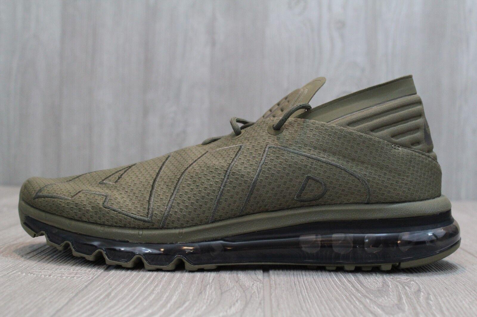 25 Men's Nike Air Max Flair Running shoes Medium Olive Sequoia 942236 200 11.5