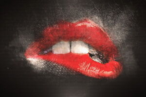 Red Lips oil Painting Picture HD Print on Canvas Unframed Canvas Wall Art decor