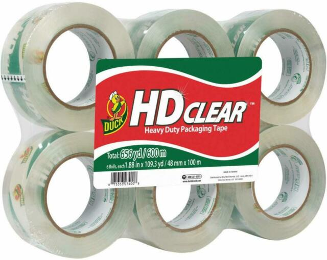 6 Rolls Clear Packaging Box Tape 100 Yard Free Shipping