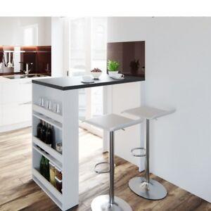 Dettagli su Tavolo da Bar Cucina Moderno con 3 Ripiani tavolo  Portabottiglie 117x57x106 H