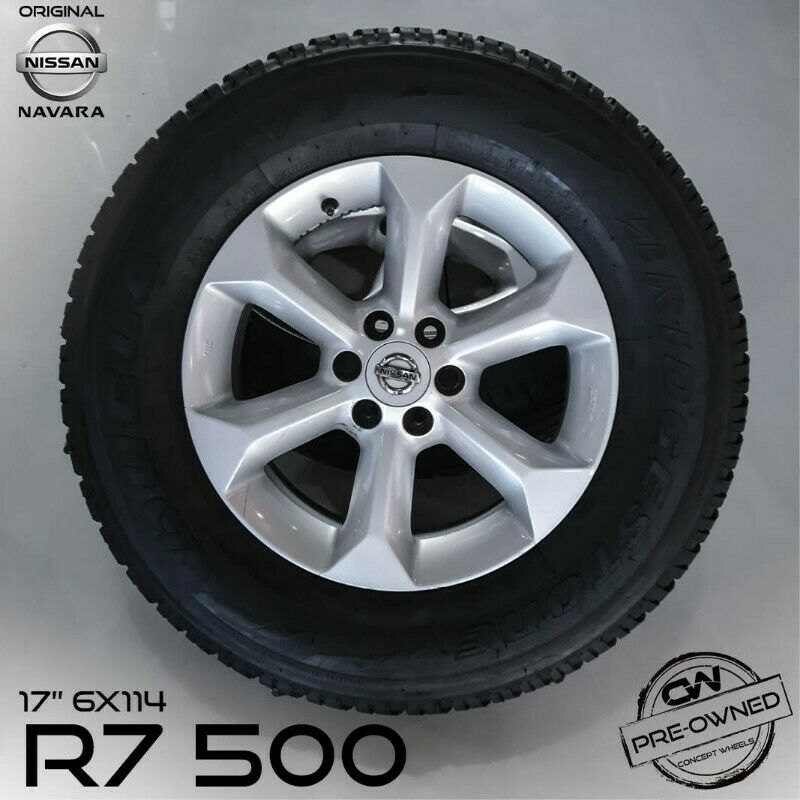 CONCET WHEELS 17 INCH ORIGINAL NISSAN NAVARA RIMS AND TYRES FOR SALE