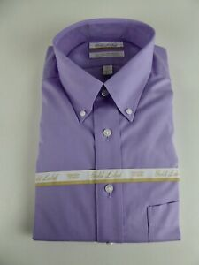 0f886a1191d Details about Roundtree & Yorke Gold Label Non Iron EZ Wash Pinpoint Dress  Shirt NWT 75 Purple