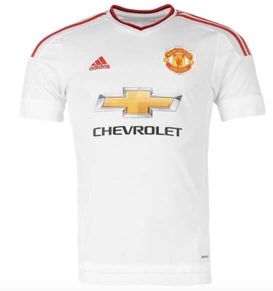 Adidas Manchester United trasferta Maglia per 2015 2016 CHEVROLET BIANCO red