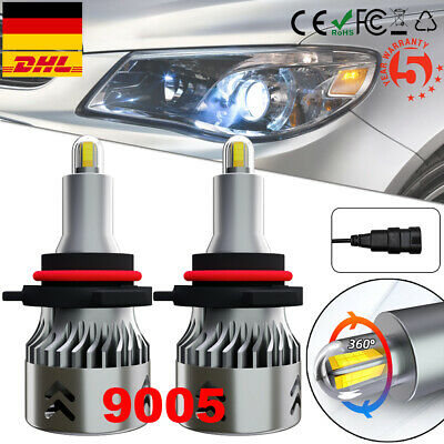 360°8-Seiten 55W 40000LM H7 LED Scheinwerfer Lampe Fern-//Abblendlicht 6000K Weiß