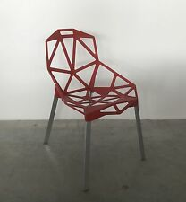 2x Magis Chair_One Konstantin Grcic Rot 5085 Stuhl Outdoor Aluminium poliert