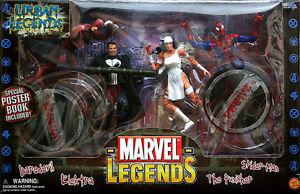 Marvel Legends Urbain Daredevil Punisher Spiderman Elektra Boîte Jouet Biz
