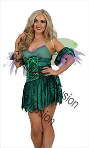 Image is loading Women-Adult-GREEN-Woodland-Fairy-Pixie-Costume-Outfit-  sc 1 st  eBay & Women Adult GREEN Woodland Fairy Pixie Costume Outfit with FREE ...