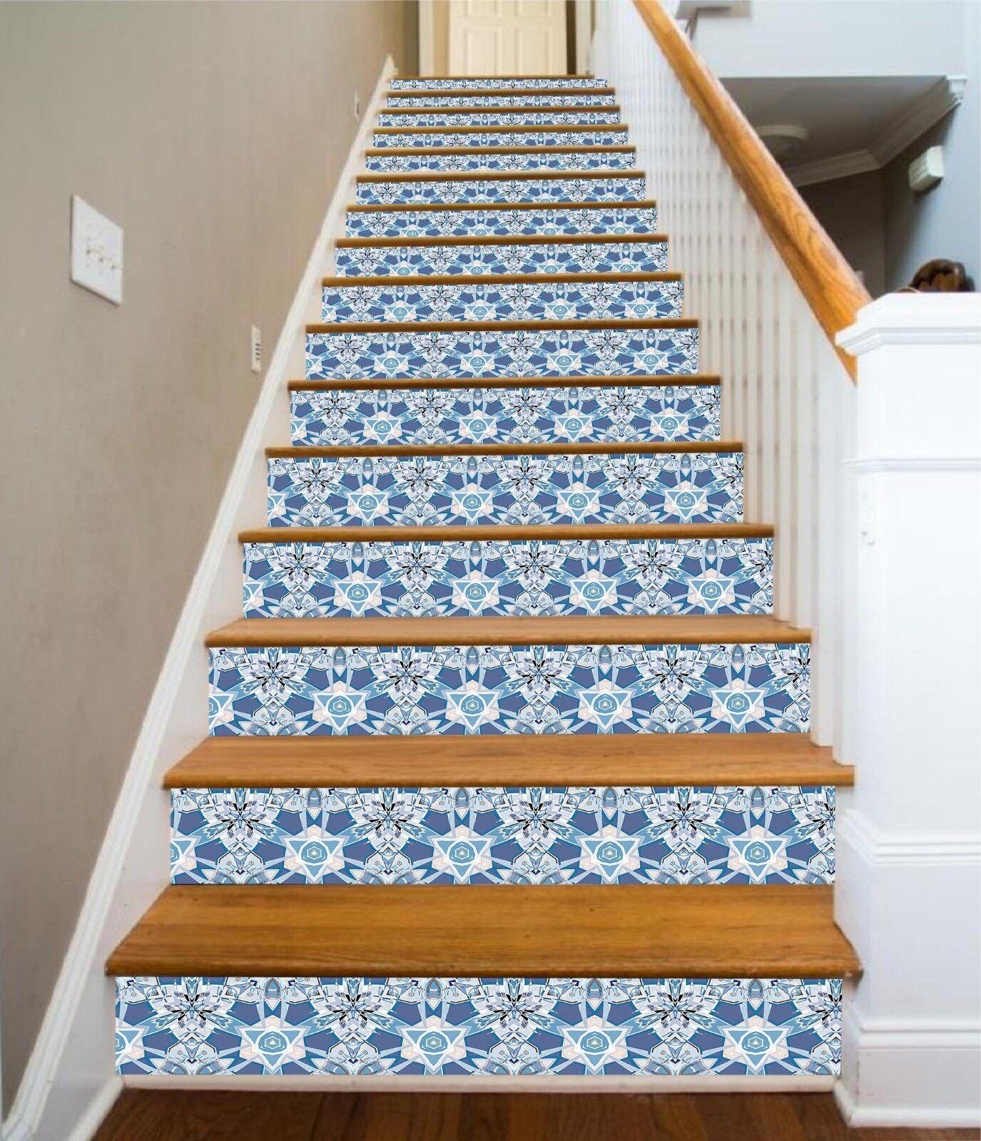 3D Blendend Blaume 7 Fliese Marmor Stair Risers Fototapete Vinyl Aufkleber Tapete