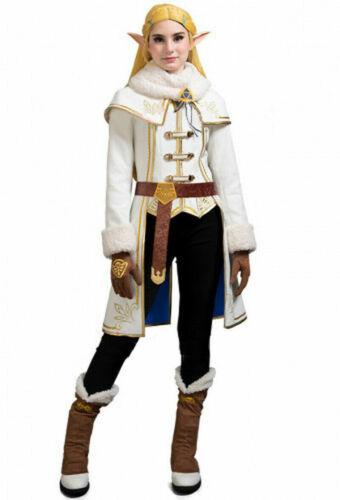 The Legend of Zelda Breath of the Wild Princess Zelda Winter Cosplay Costume Set