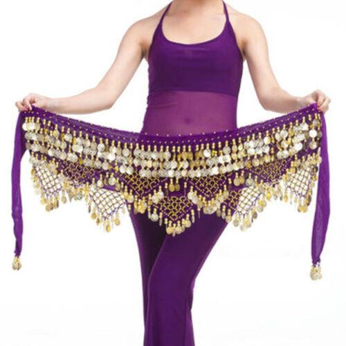 Professional 320 Silver Coins Belly Dance Dancing Hip Scarf Costume Belt FunnLVX