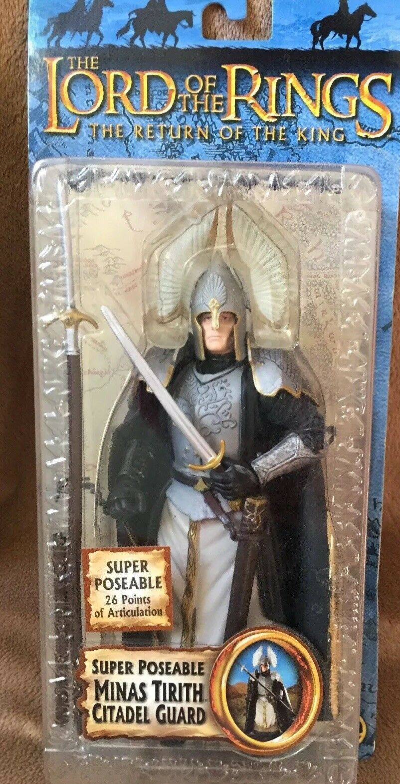 NEW LOTR Return of the King Super Poseable Minas Tirith Citadel Guard Action Fig