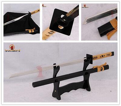 JAPANESE NINJA SWORD 9260 SPRING STEEL FULL FUNCTIONAL KIRIHA-ZUKURI BLADE SHARP