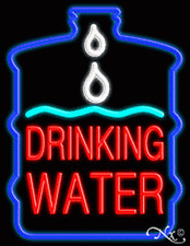 Brand New Drinking Water 31x24x3 Withlogo Real Neon Sign Withcustom Options 10394
