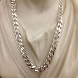 0e0019a351663 925 Sterling Silver Mens Tight Curb Cuban Link Chain Necklace 5.5mm ...