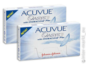 acuvue oasys hydraclear plus 2x6 bc 8 4 g nstig ebay. Black Bedroom Furniture Sets. Home Design Ideas