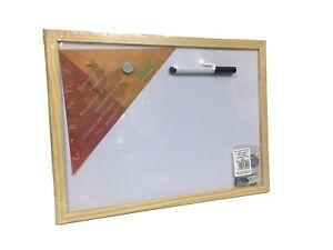 Lavagna-magnetica-per-bottoni-magnetici-cornice-legno-piu-pennarello-30X40