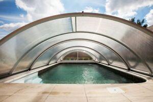Schiebeuberdachung Pooldach Schwimmbad Uberdachung Basic