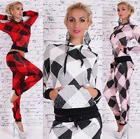 Sexy Women's 2-Piece Full Tracksuit Sweatshirt Hoodie Harem Pants Size 8.10.12