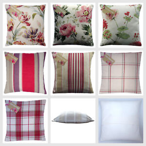 Cushion-cover-made-from-Laura-Ashley-cranberry-fabric-In-all-sizes