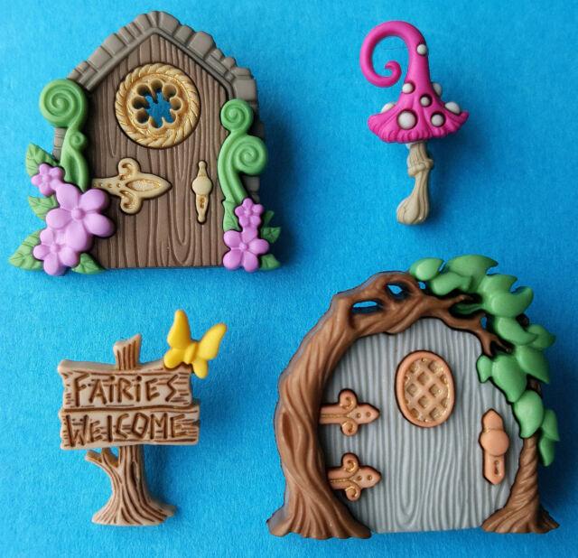 DRESS IT UP Buttons Believe In Fairies 9388 Embellishment Xmas Garden Flower