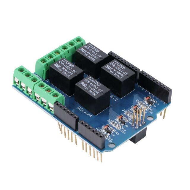 4 Channel 5V Relay Module Board Shield For PIC AVR DSP ARM MCU for Arduino BU
