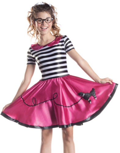 Poodle Skirt 1950/'S Grease Car Hop Girls Fancy Dress Halloween Party Costume