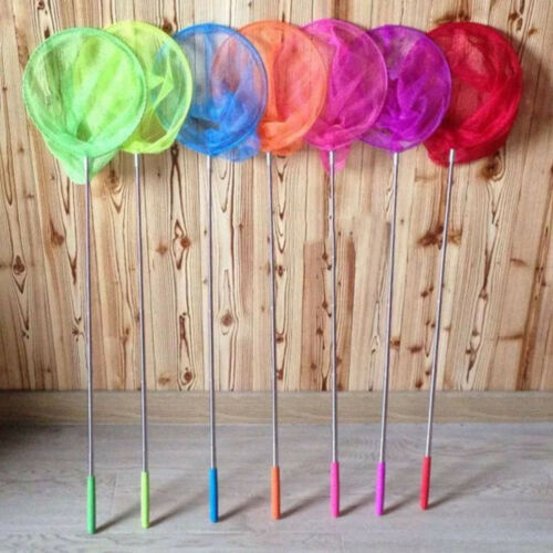Childrens Kids Extendable Handle Fishing Mesh Butterfly Insect Catch Bug Net Toy
