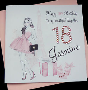 Image Is Loading Handmade Personalised Birthday Card Daughter Granddaughter Niece 16th