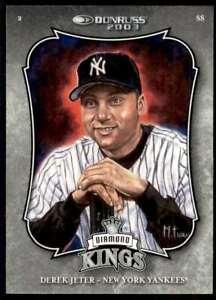 2003 Donruss Diamond Kings Derek Jeter New York Yankees #2