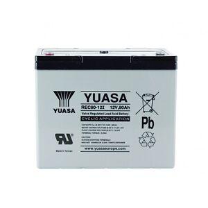 Batterie décharge lente Camping car bateau Yuasa 12V 80AH REC80-12 ... b128f8333e0d