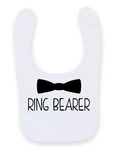 Cute Wedding Ring Bearer Baby Bib Cute Funny Velcro Wedding Baby Bib B044