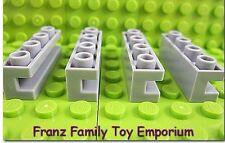New LEGO Brick w/Groove Lot x4 Light Bluish Gray Stone 1x4 7785 75019 7675 10132