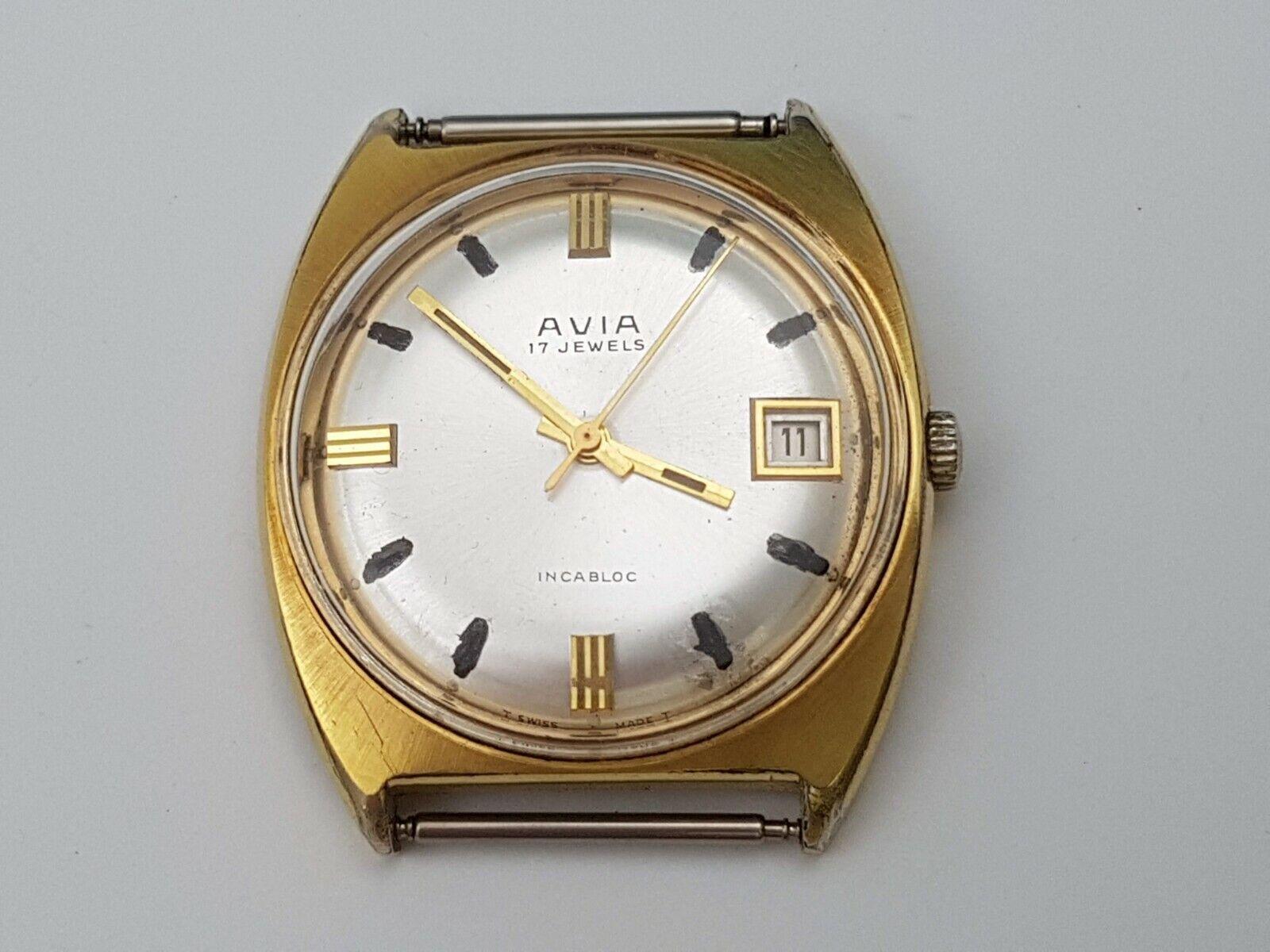 Image 1 - Vintage watch AVIA, Switzerland, mechanics, 17 stones, gilding.