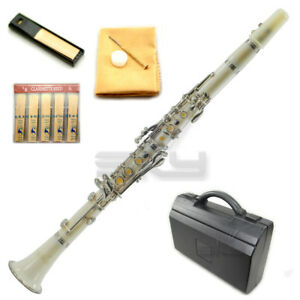 New-High-Quality-Bb-White-Clarinet-Package-Nickle-Silver-Keys-German-Style