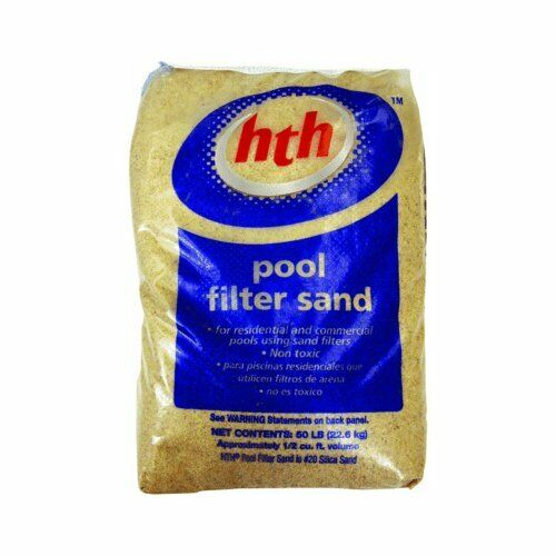 Pool Filter Sand for Residential and Commercial Pools Using Sand Filters - 50lbs