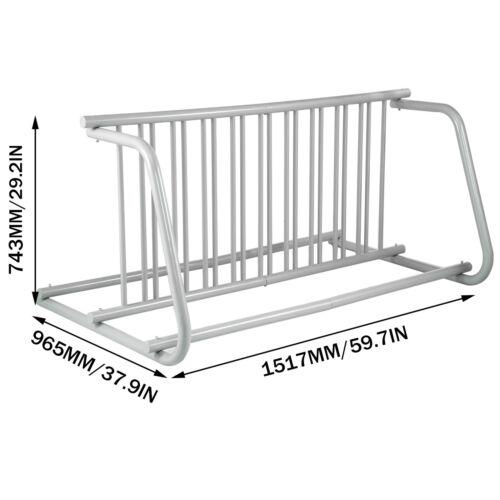 10 Holders Floor Bike Rack Parking Storage Stand Yards 59.7 x 38 x 29.3in