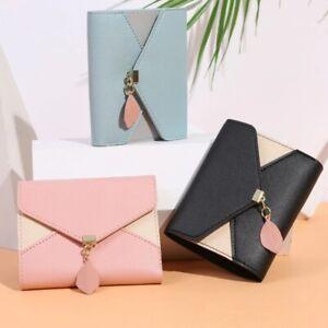 Geometric Luxury Brand Leather Wallets Women Short Hasp Coin Purses Tassel Desig