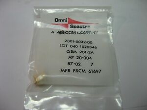 Omni-Spectra-2001-5032-00-SMA-Connector-Male-In-Bag-NOS-Qty-1